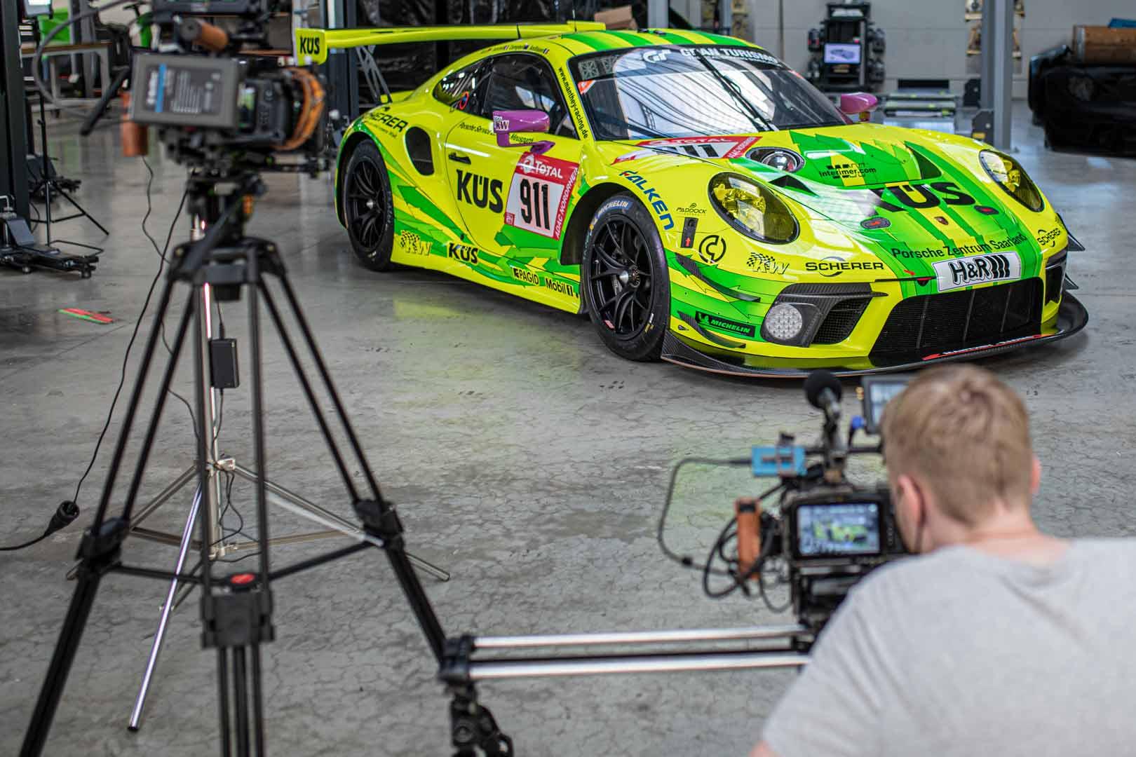 Filmmaking eines Sportwagens