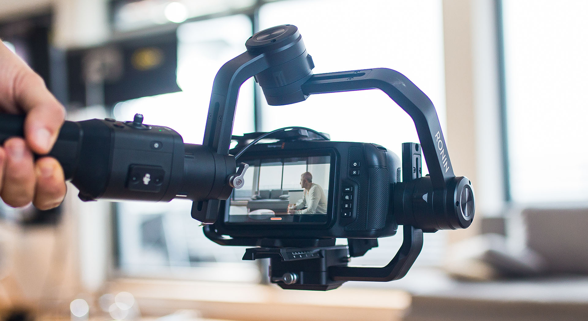 Gimble Videoaufnahme mit Spiegelreflexkamera