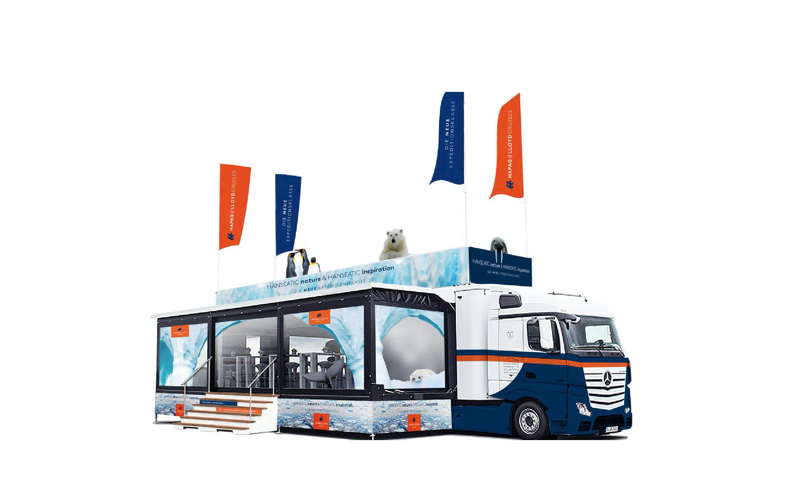 Hapag Lloyd Roadshows Promotion Truck